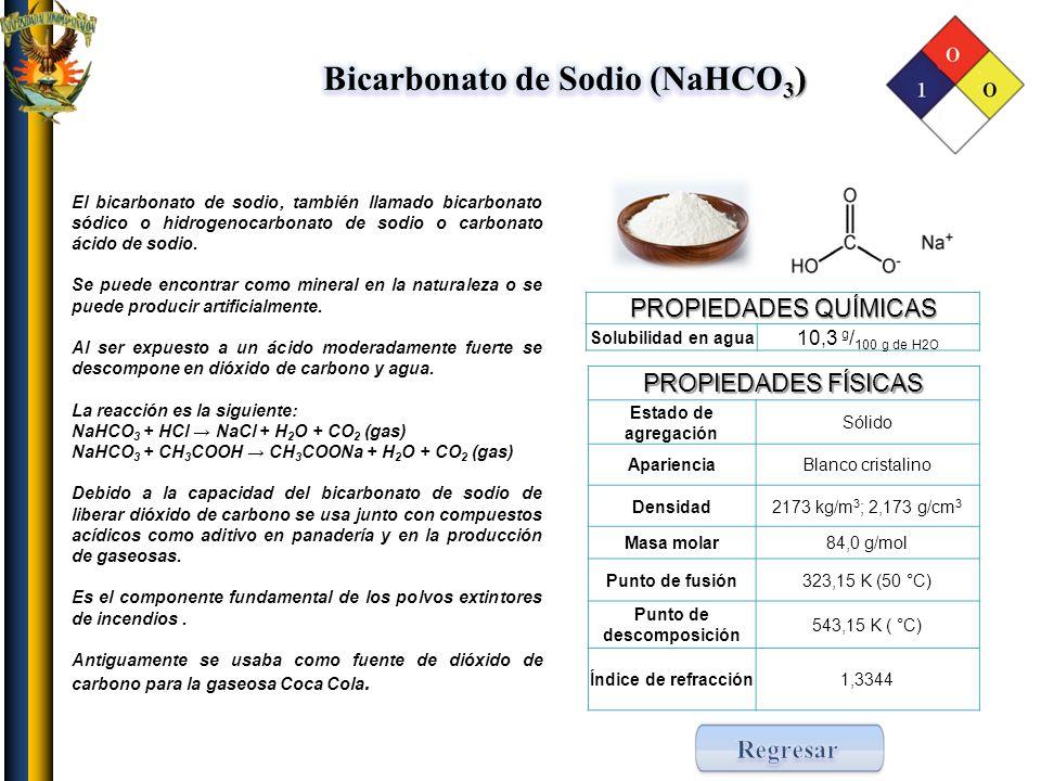 Bicarbonato de Sodio (NaHCO3) Punto de descomposición