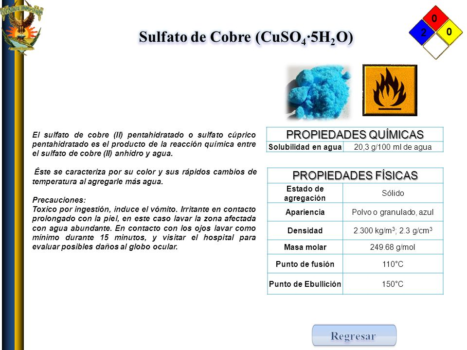 Sulfato de Cobre (CuSO4·5H2O)