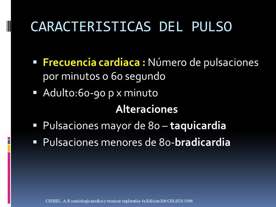 CARACTERISTICAS DEL PULSO