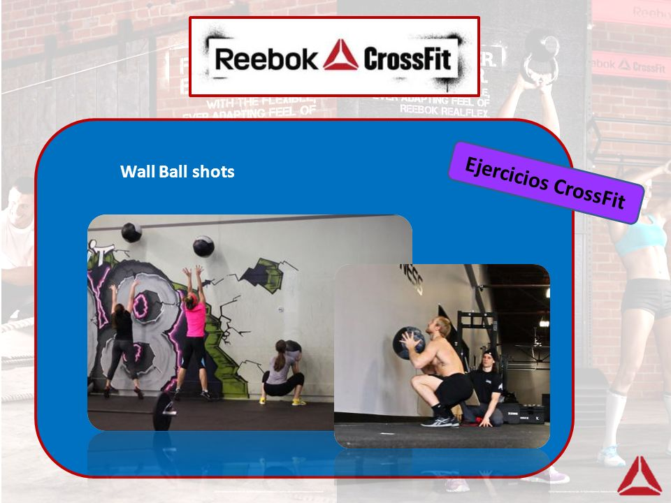 Wall Ball shots Ejercicios CrossFit