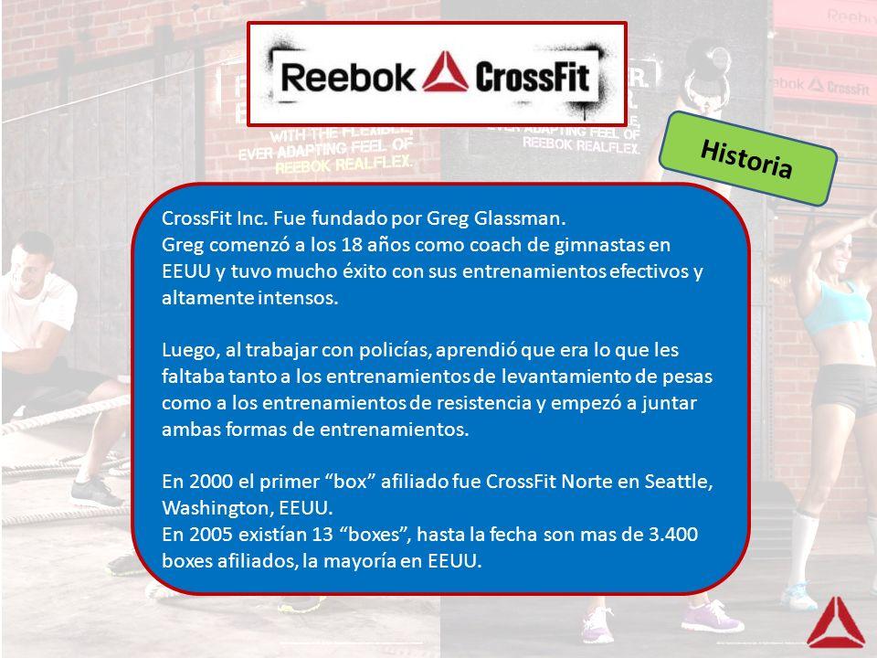 Historia CrossFit Inc. Fue fundado por Greg Glassman.