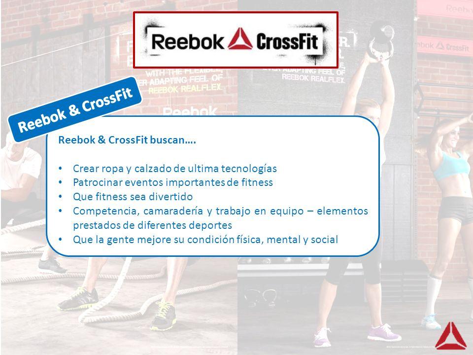 Reebok & CrossFit Reebok & CrossFit buscan….