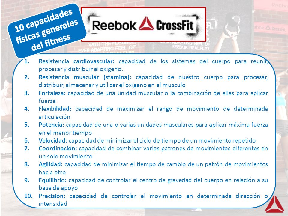 10 capacidades físicas generales del fitness
