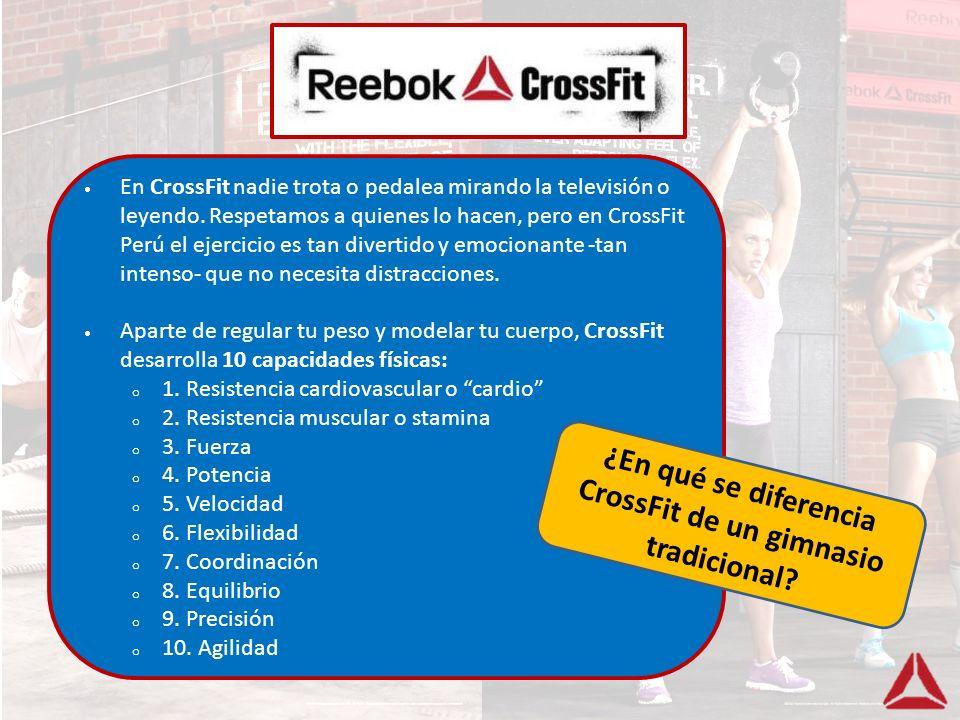 ¿En qué se diferencia CrossFit de un gimnasio tradicional