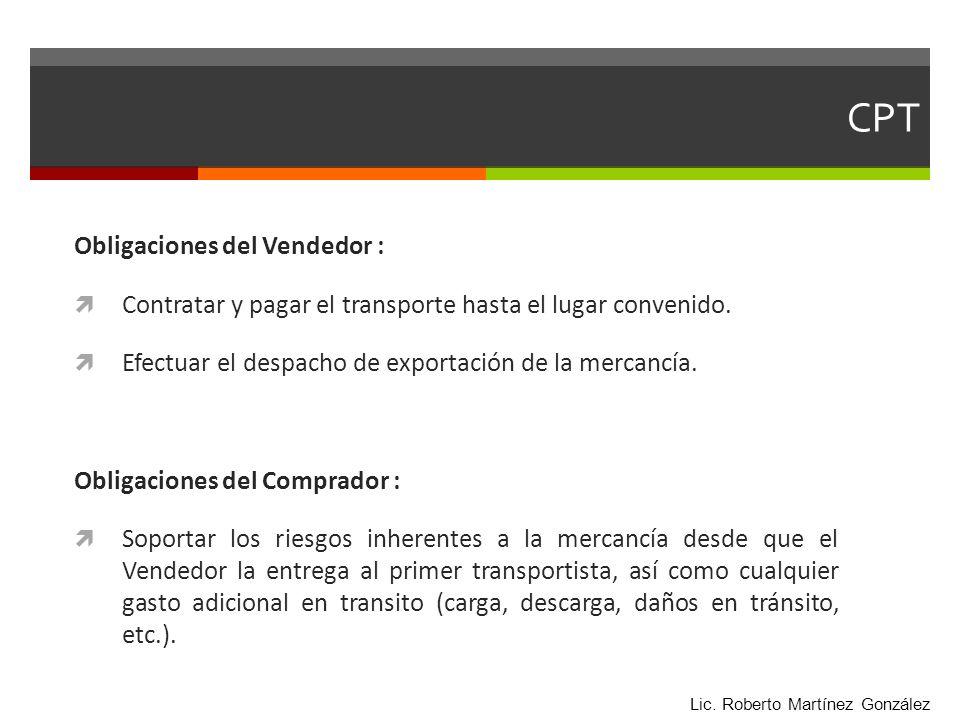 CPT Obligaciones del Vendedor :