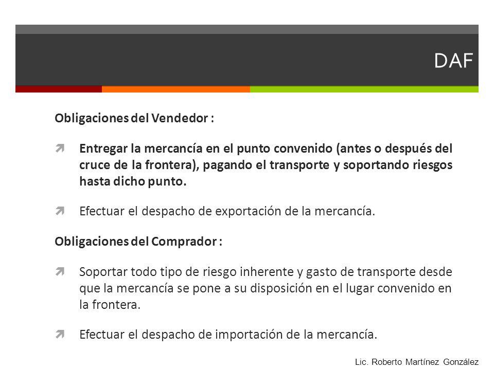 DAF Obligaciones del Vendedor :