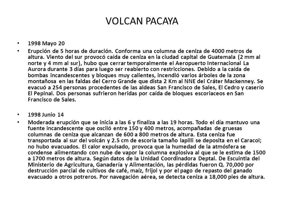 VOLCAN PACAYA 1998 Mayo 20.