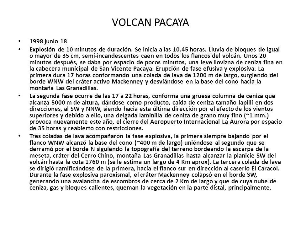 VOLCAN PACAYA 1998 junio 18.