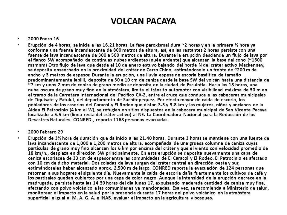 VOLCAN PACAYA 2000 Enero 16.