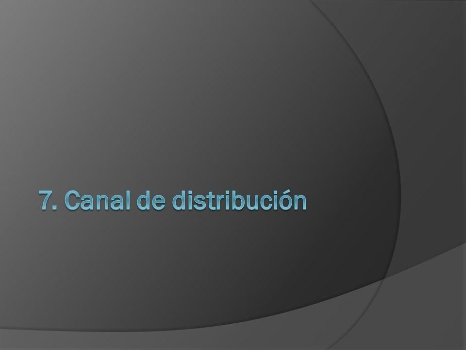 7. Canal de distribución