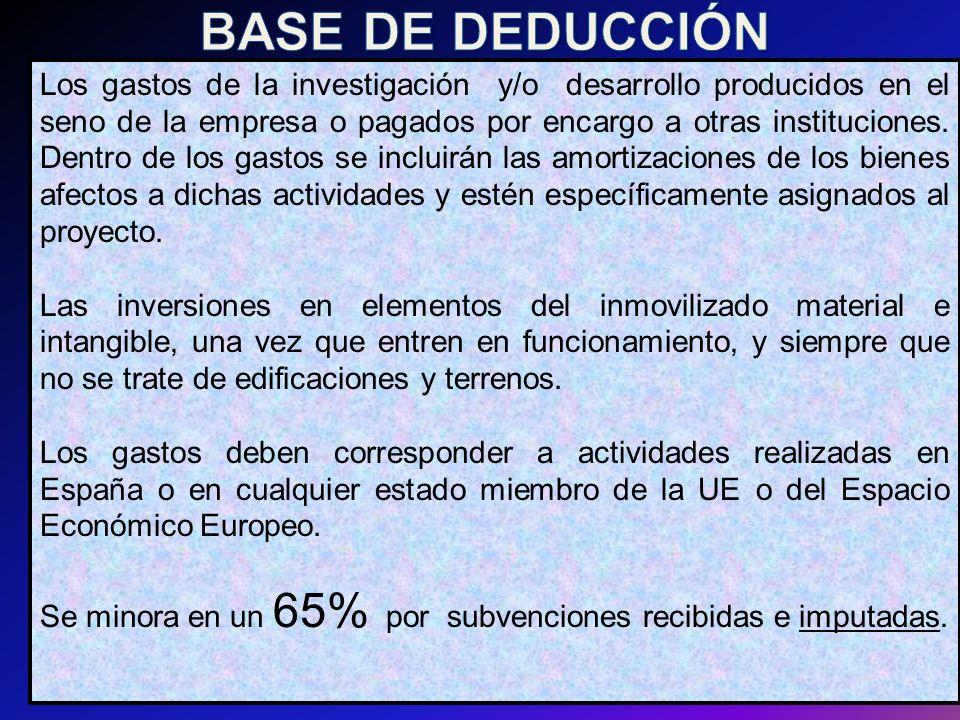 BASE DE DEDUCCIÓN