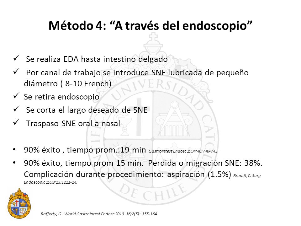 Método 4: A través del endoscopio