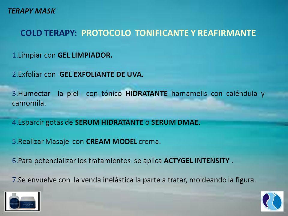 COLD TERAPY: PROTOCOLO TONIFICANTE Y REAFIRMANTE