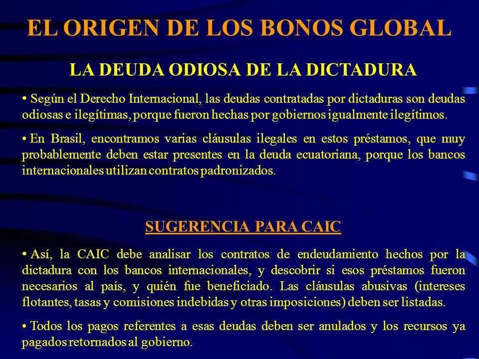 EL ORIGEN DE LOS BONOS GLOBAL LA DEUDA ODIOSA DE LA DICTADURA