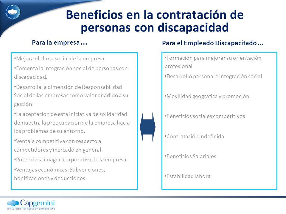 Beneficios en la contratación de personas con discapacidad