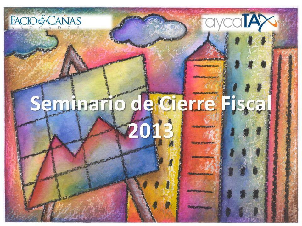 Seminario de Cierre Fiscal 2013