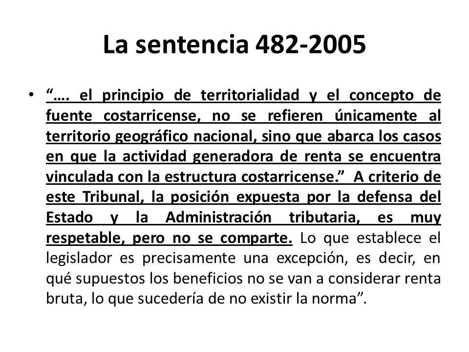 La sentencia 482-2005