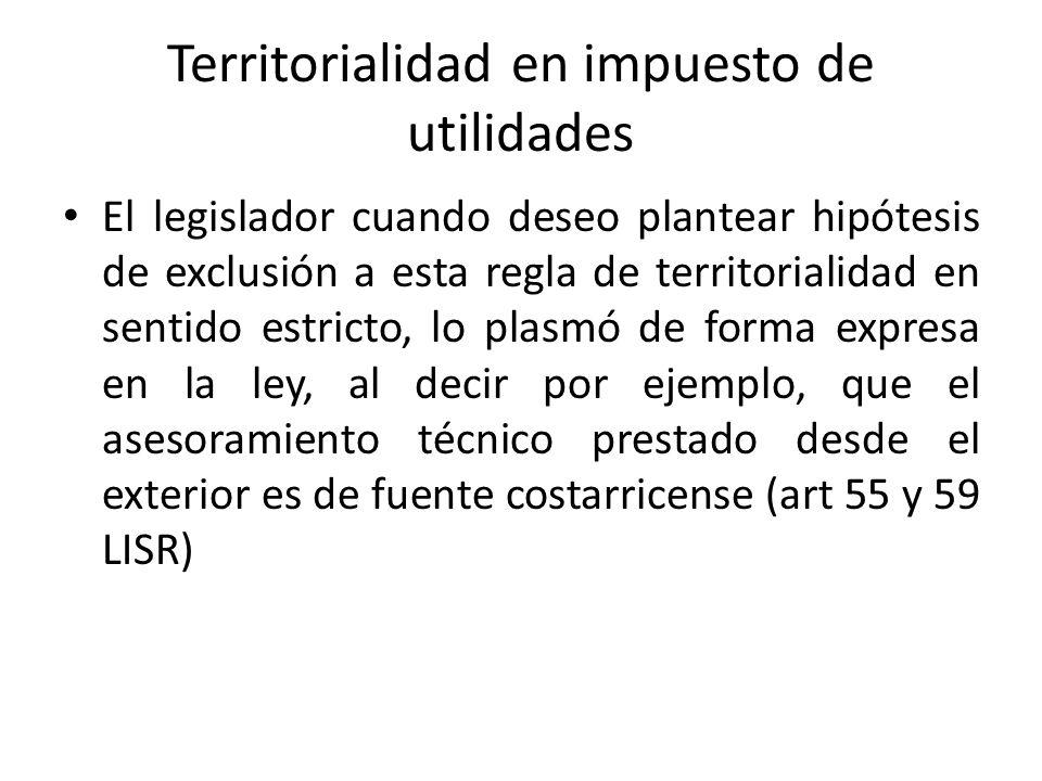 Territorialidad en impuesto de utilidades