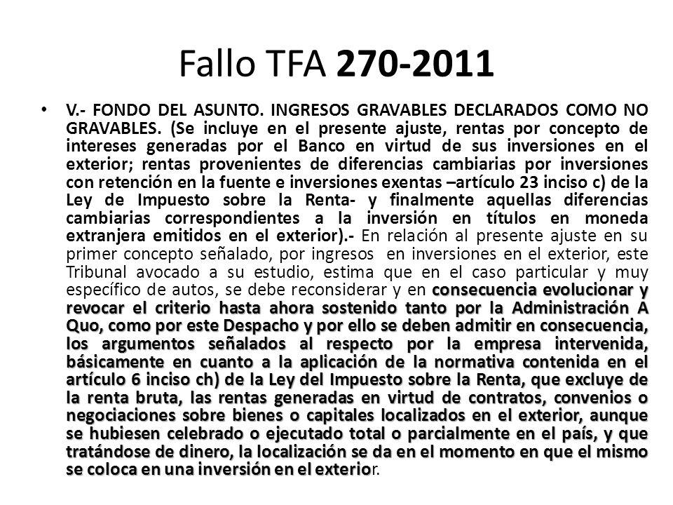 Fallo TFA 270-2011