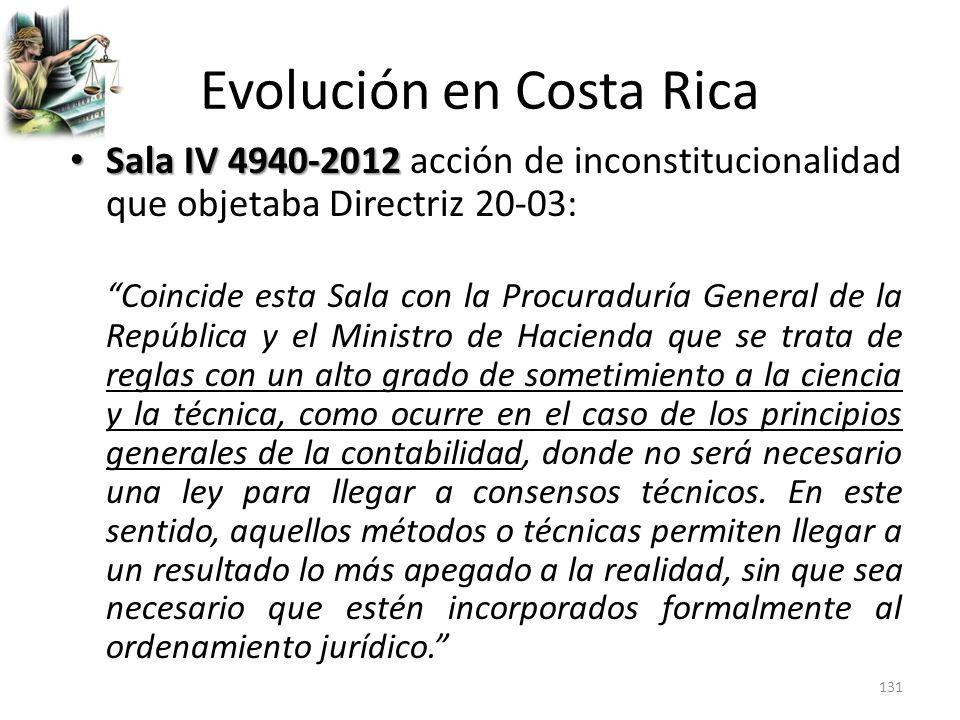 Evolución en Costa Rica