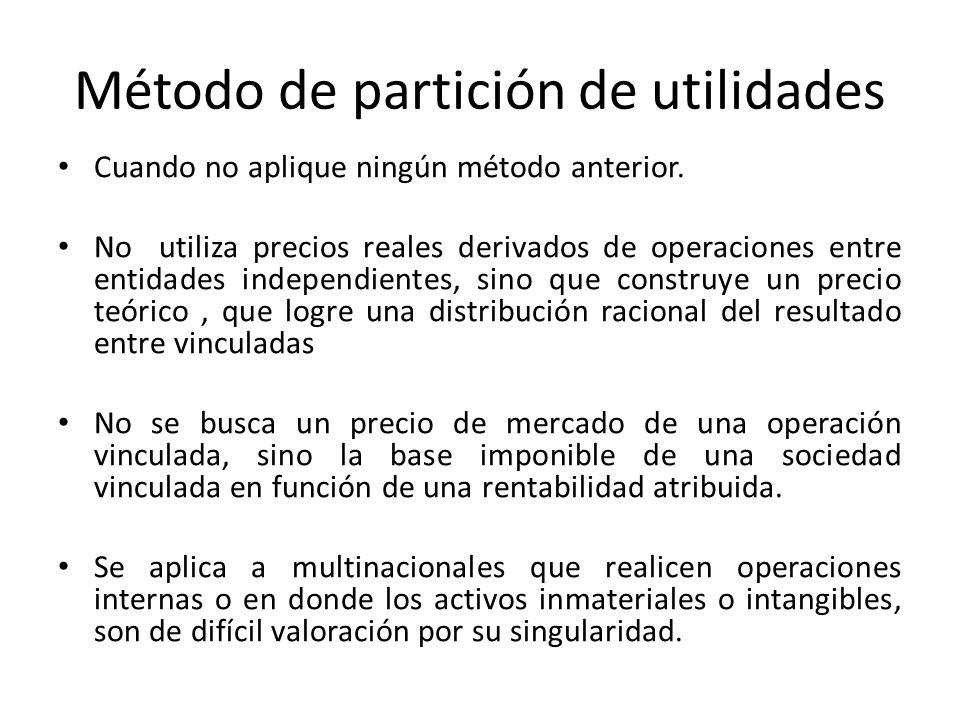 Método de partición de utilidades