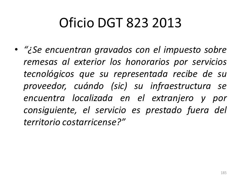 Oficio DGT 823 2013