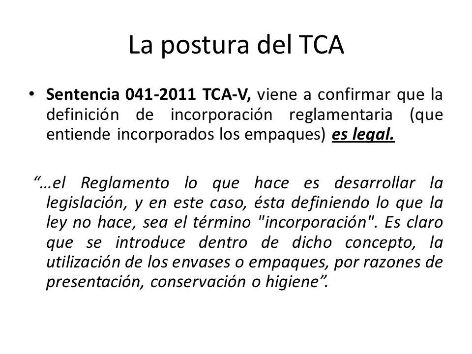 La postura del TCA