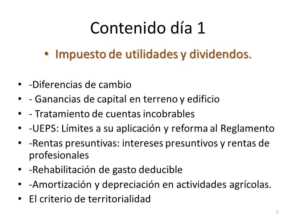 Impuesto de utilidades y dividendos.