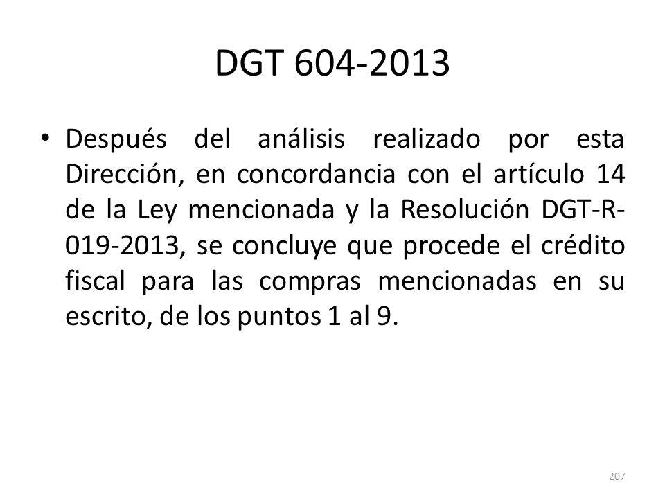 DGT 604-2013