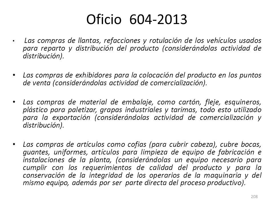Oficio 604-2013