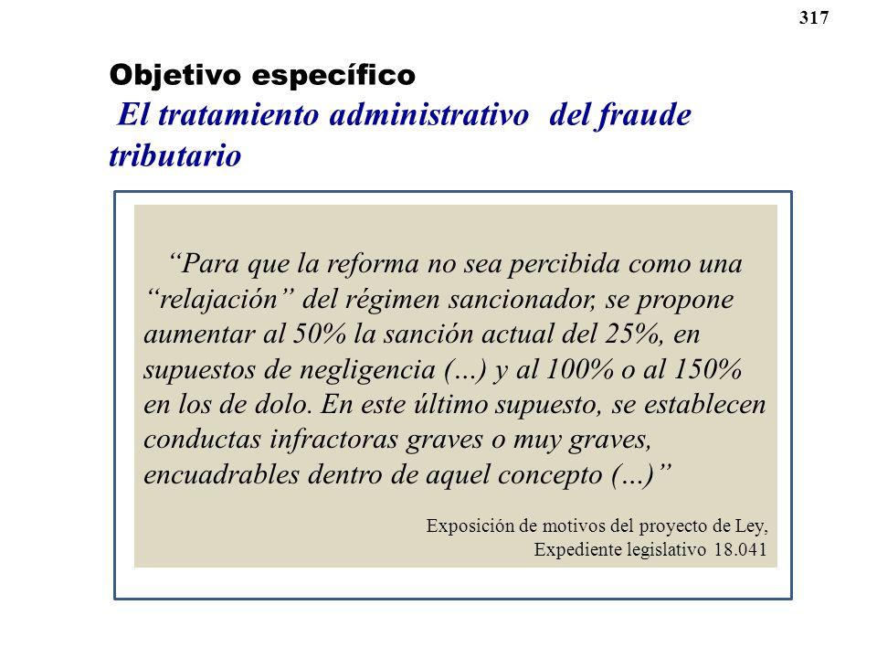 El tratamiento administrativo del fraude tributario
