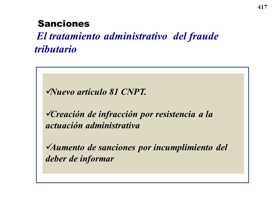 Creación de infracción por resistencia a la actuación administrativa