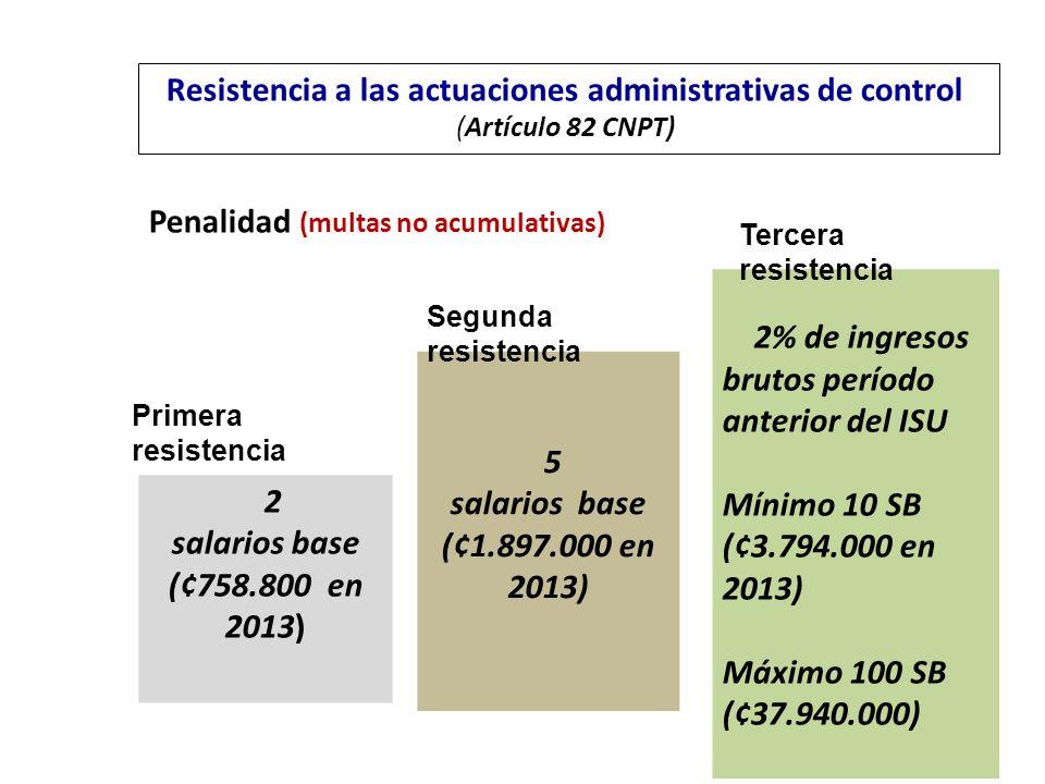 Penalidad (multas no acumulativas)
