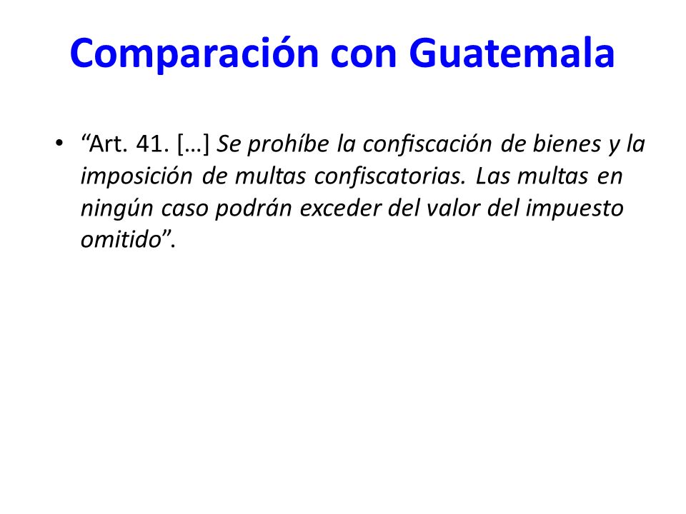 Comparación con Guatemala