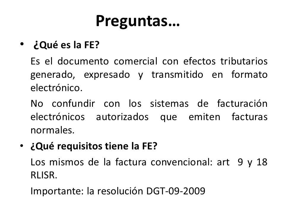Preguntas… ¿Qué es la FE