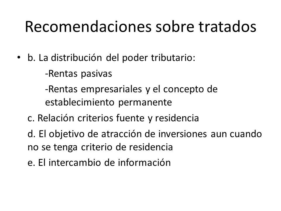 Recomendaciones sobre tratados