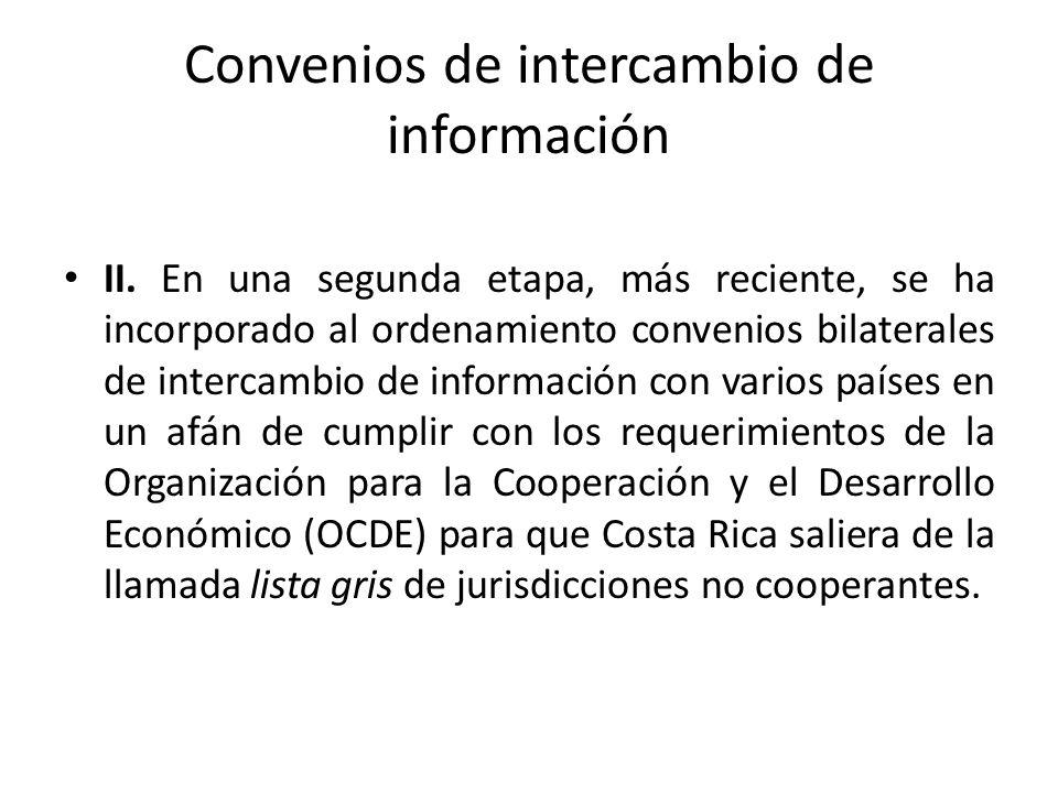 Convenios de intercambio de información
