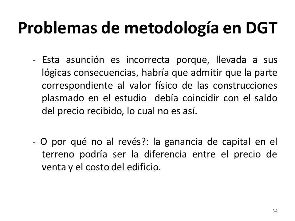 Problemas de metodología en DGT