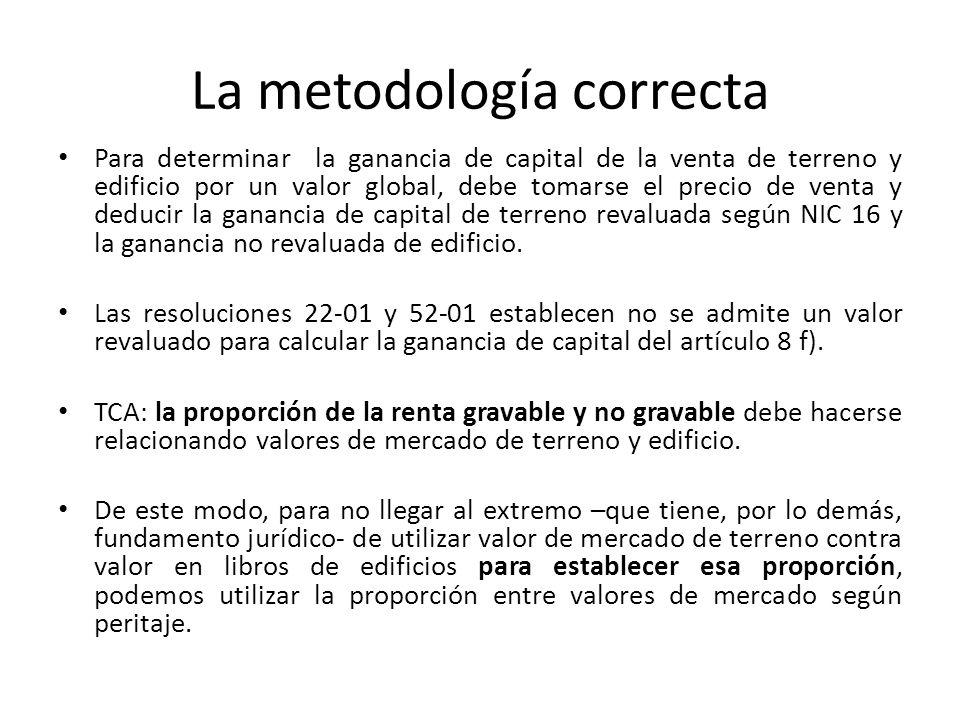 La metodología correcta