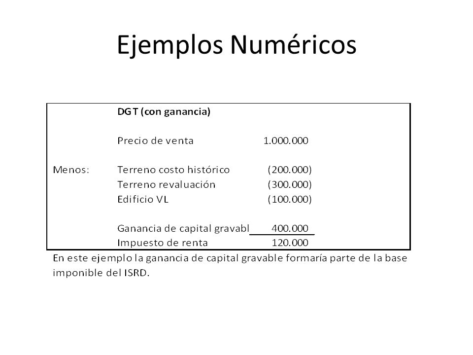Ejemplos Numéricos