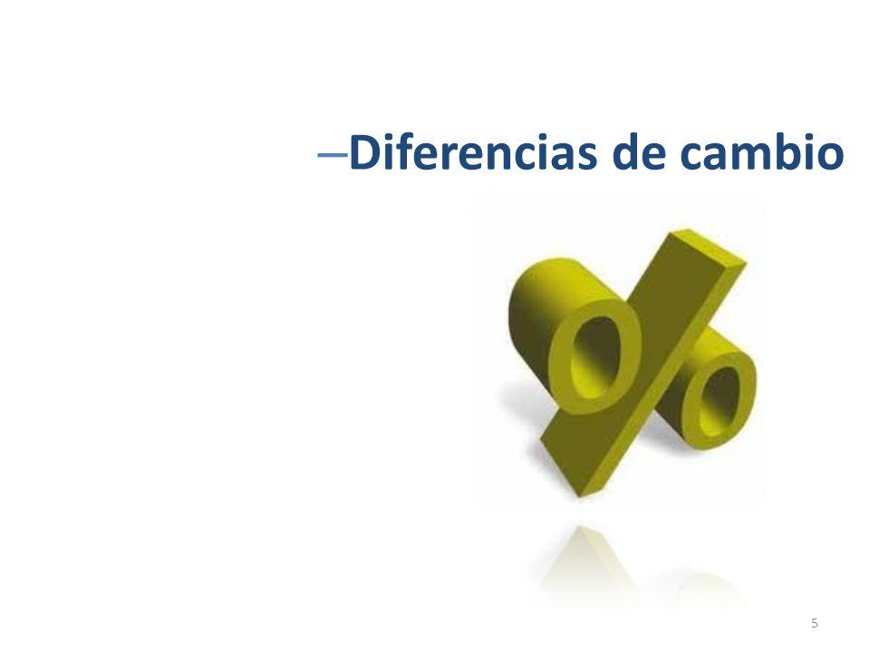 Diferencias de cambio