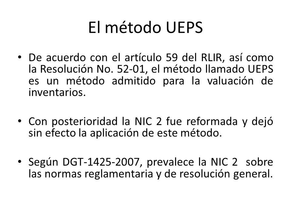 El método UEPS