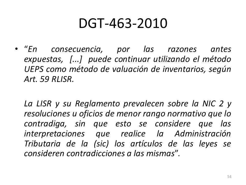 DGT-463-2010