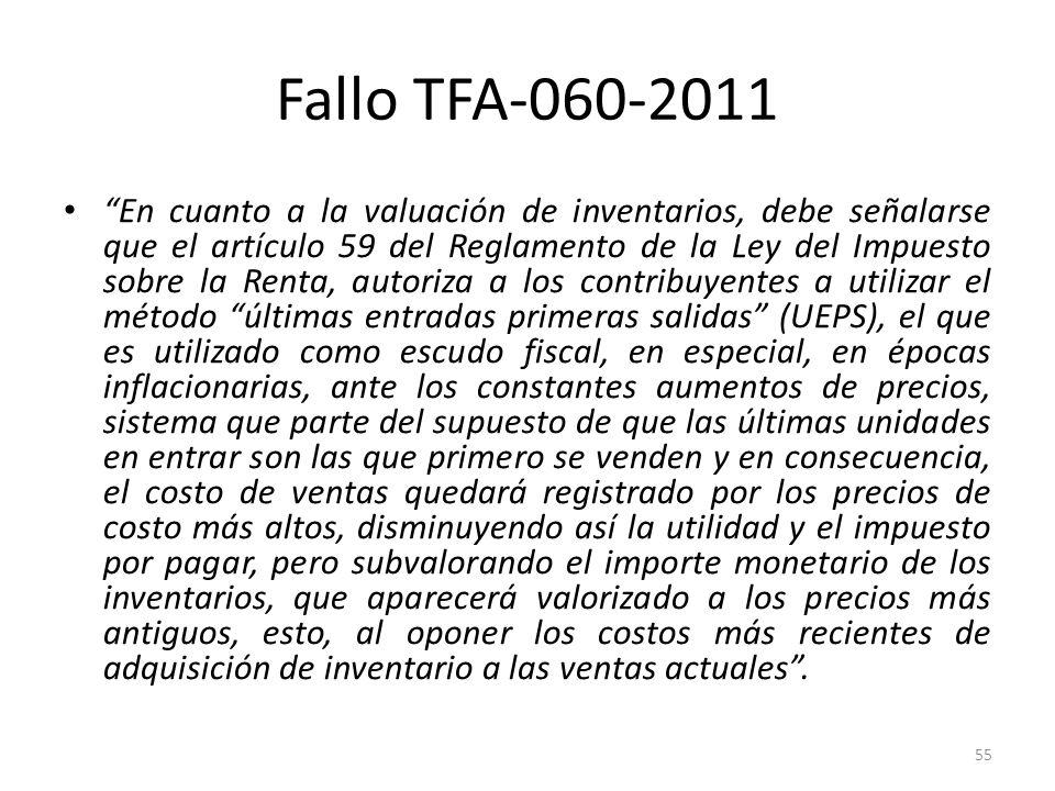 Fallo TFA-060-2011