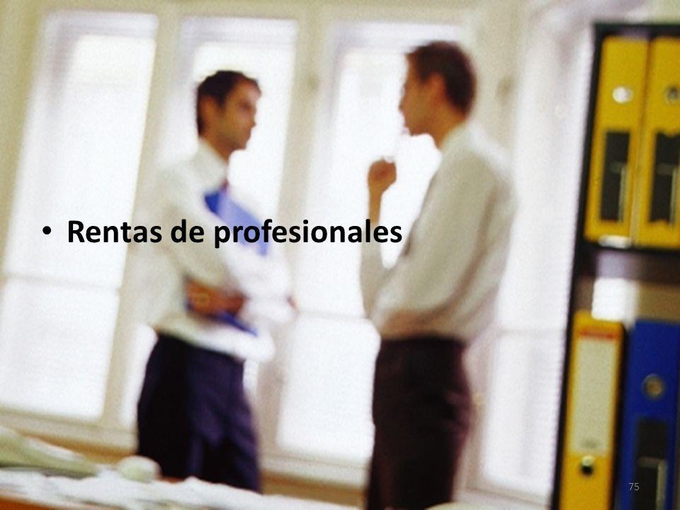 Rentas de profesionales