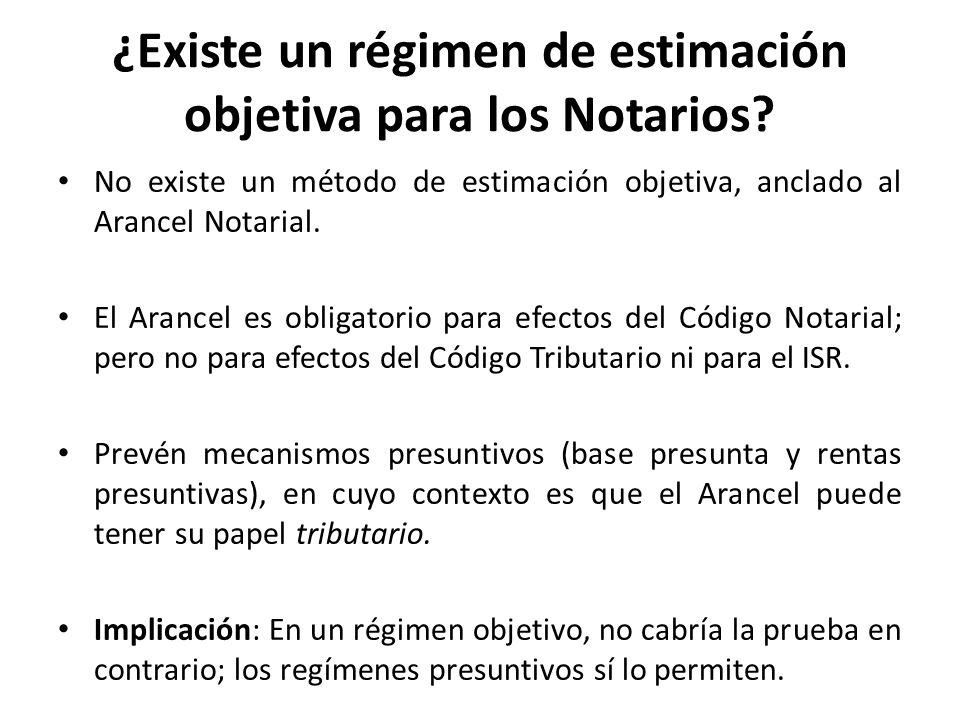 ¿Existe un régimen de estimación objetiva para los Notarios