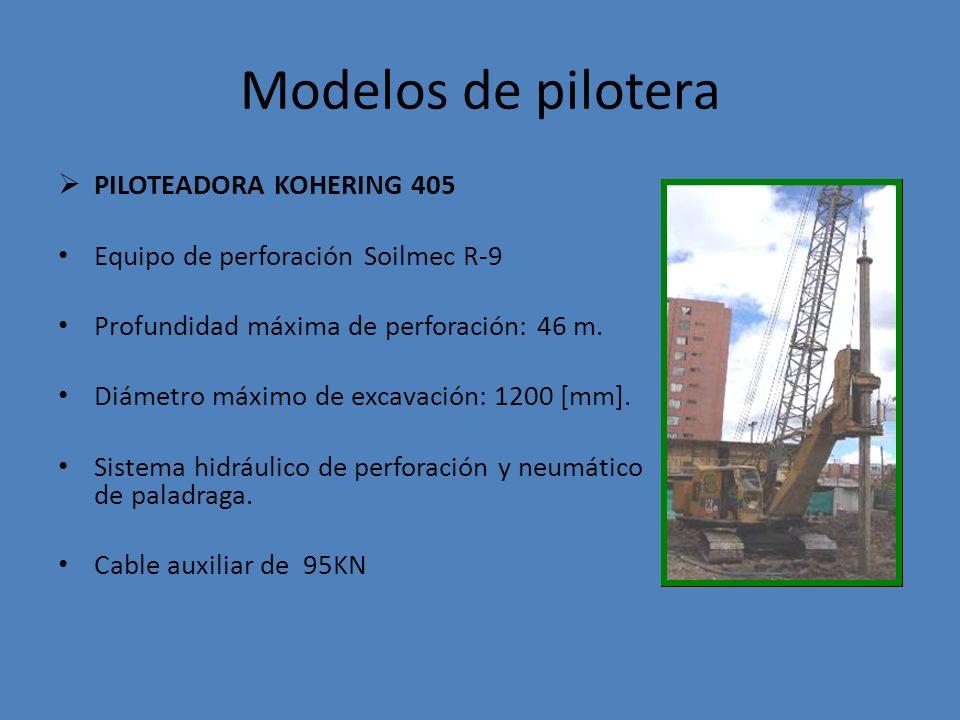 Modelos de pilotera PILOTEADORA KOHERING 405