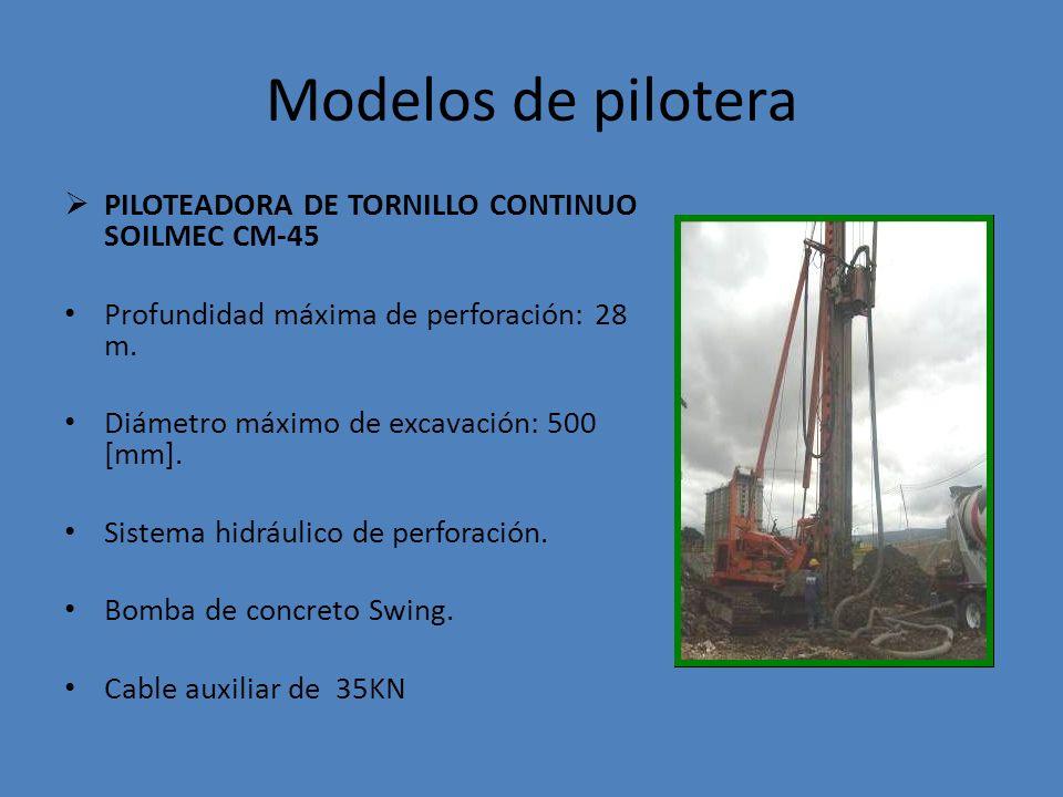 Modelos de pilotera PILOTEADORA DE TORNILLO CONTINUO SOILMEC CM-45