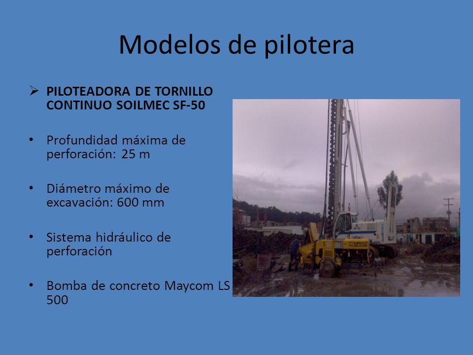 Modelos de pilotera PILOTEADORA DE TORNILLO CONTINUO SOILMEC SF-50
