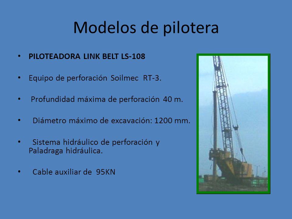 Modelos de pilotera PILOTEADORA LINK BELT LS-108